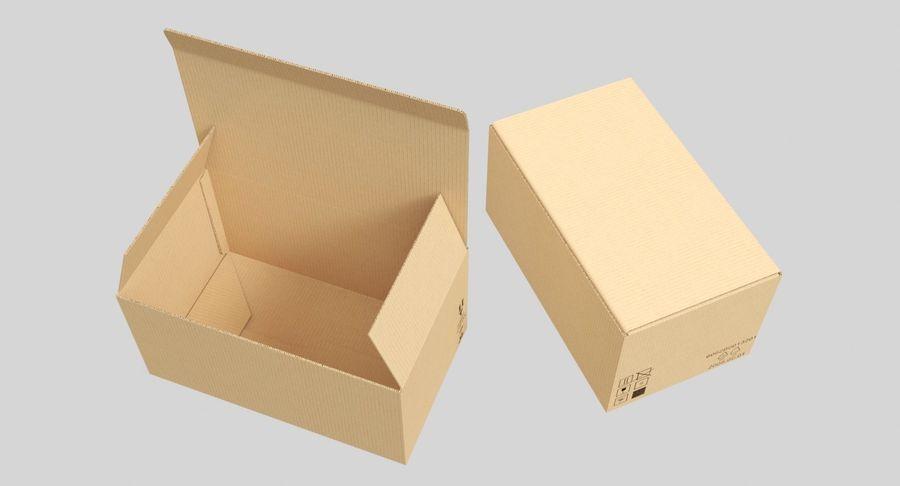 Boîtes en carton 01 royalty-free 3d model - Preview no. 3