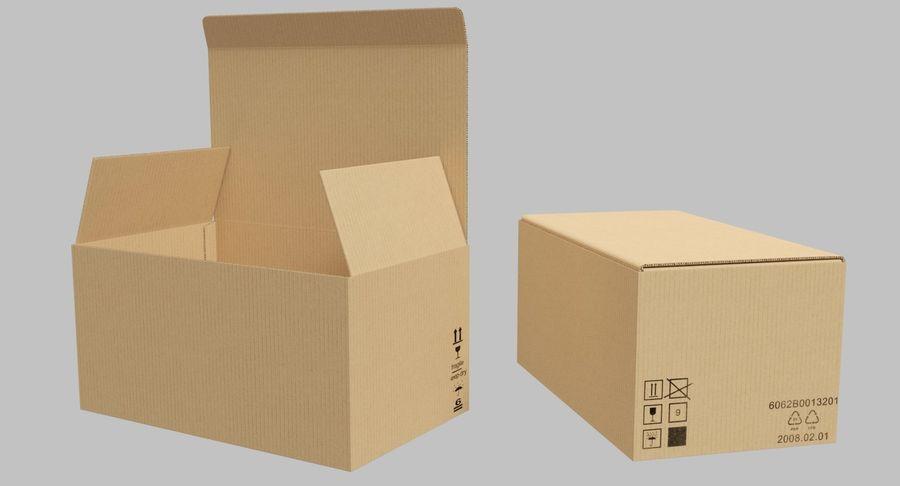 Boîtes en carton 01 royalty-free 3d model - Preview no. 10