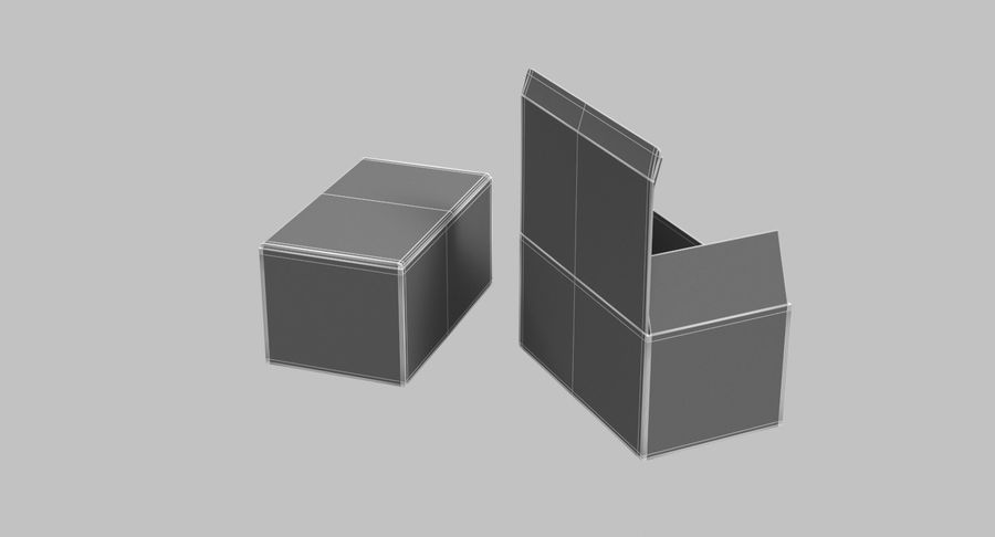 Boîtes en carton 01 royalty-free 3d model - Preview no. 15