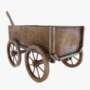 Wooden Cart (Old) 3d model