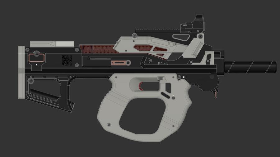 3D科幻枪 royalty-free 3d model - Preview no. 4