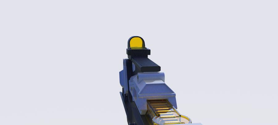 3D科幻枪 royalty-free 3d model - Preview no. 16