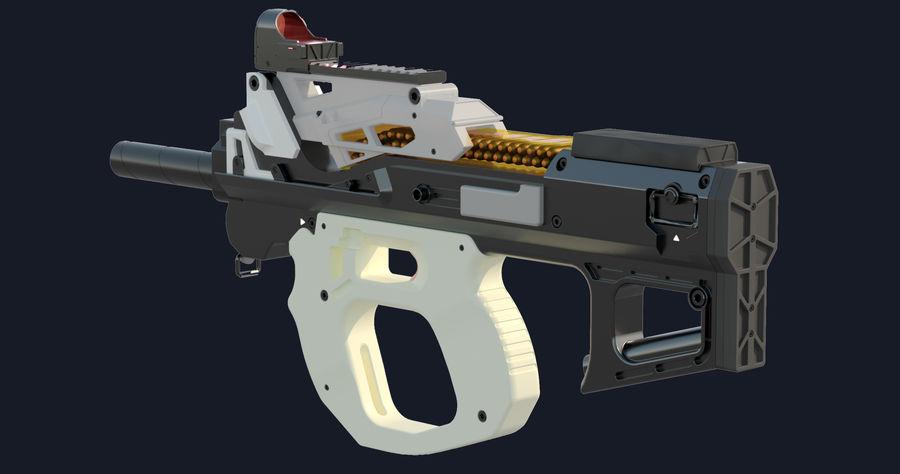 3D科幻枪 royalty-free 3d model - Preview no. 11