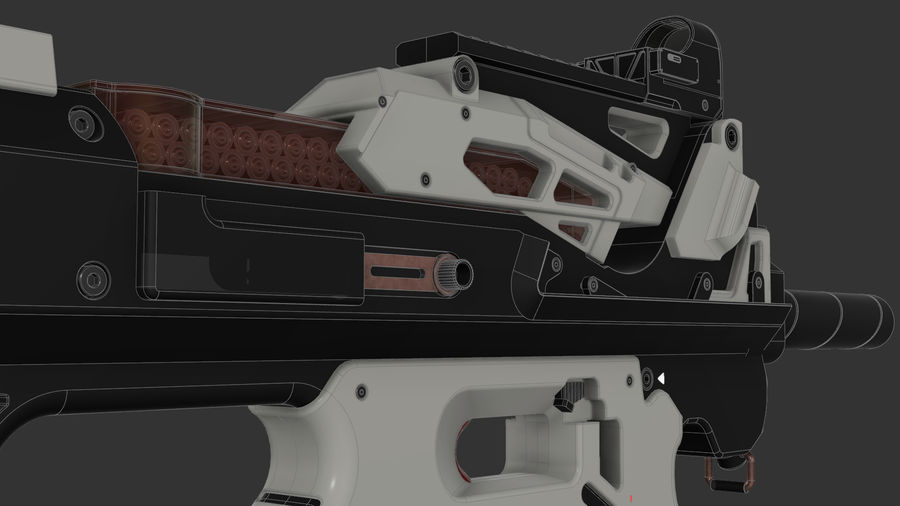 3D科幻枪 royalty-free 3d model - Preview no. 9