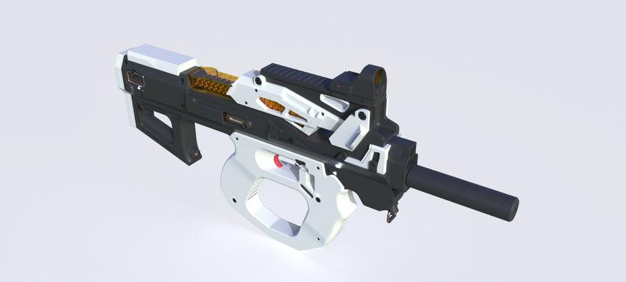 3D科幻枪 royalty-free 3d model - Preview no. 14