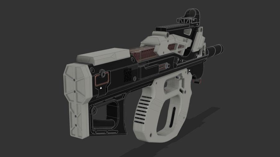 3D科幻枪 royalty-free 3d model - Preview no. 5