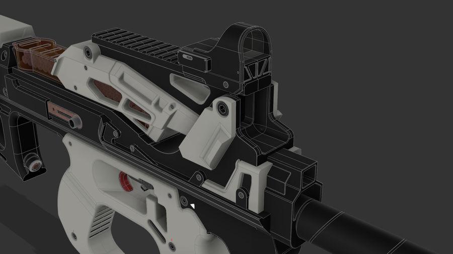 3D科幻枪 royalty-free 3d model - Preview no. 10