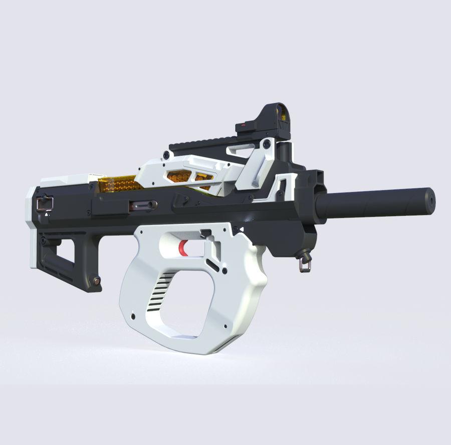 3D科幻枪 royalty-free 3d model - Preview no. 1