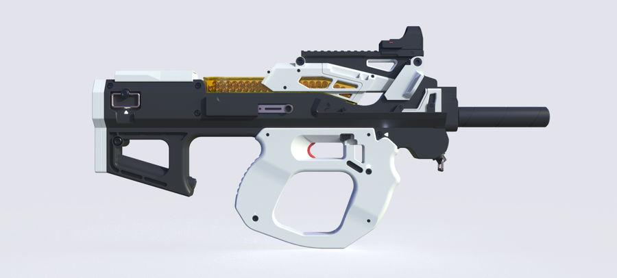 3D科幻枪 royalty-free 3d model - Preview no. 13