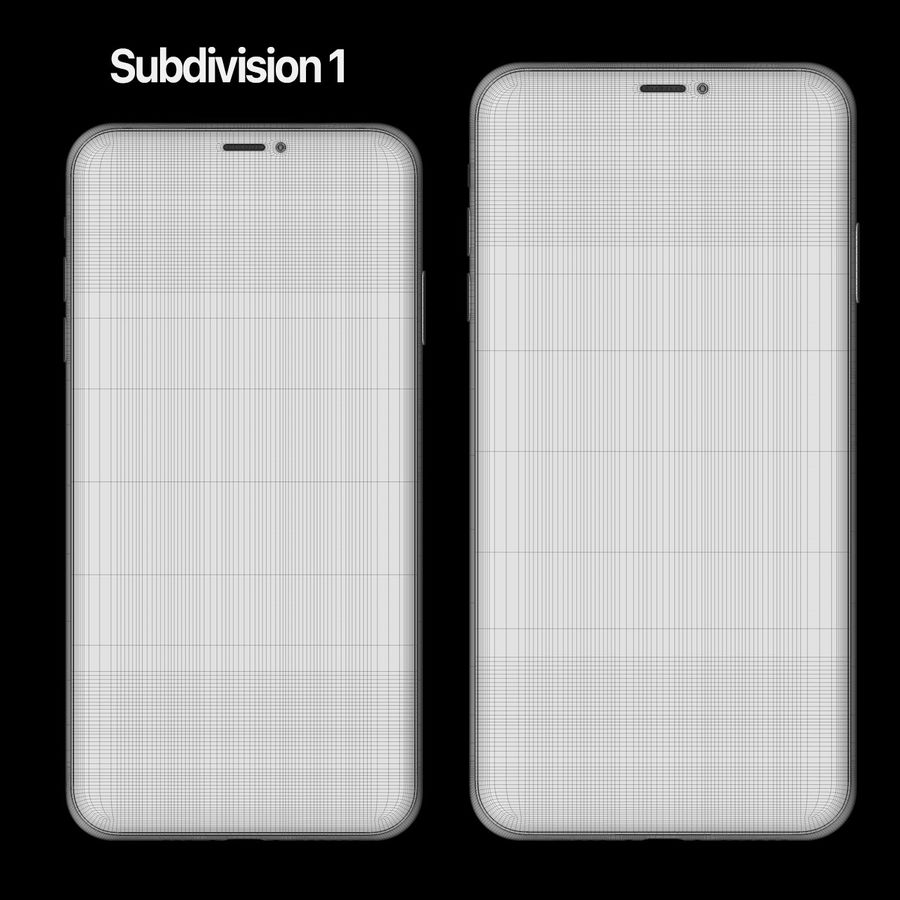 Iphone 11 pro e Iphone 11 Pro Max royalty-free 3d model - Preview no. 10