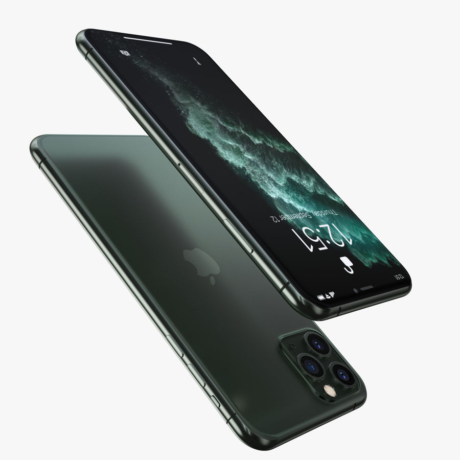 Iphone 11 pro e Iphone 11 Pro Max royalty-free 3d model - Preview no. 4