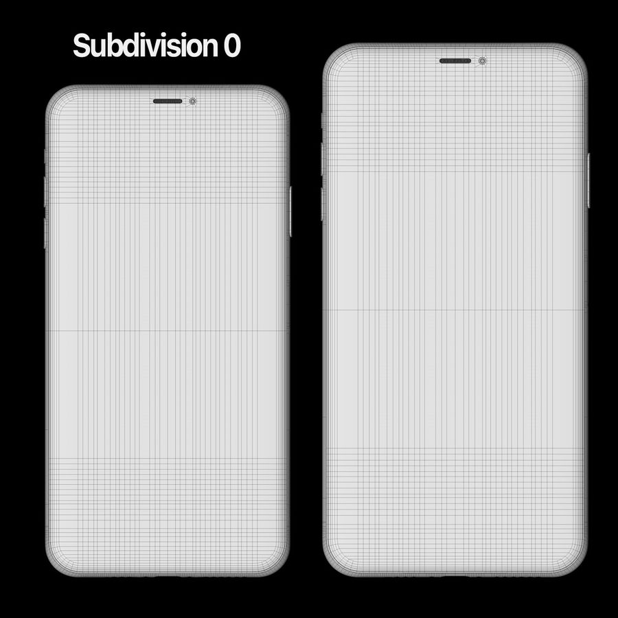 Iphone 11 pro e Iphone 11 Pro Max royalty-free 3d model - Preview no. 9
