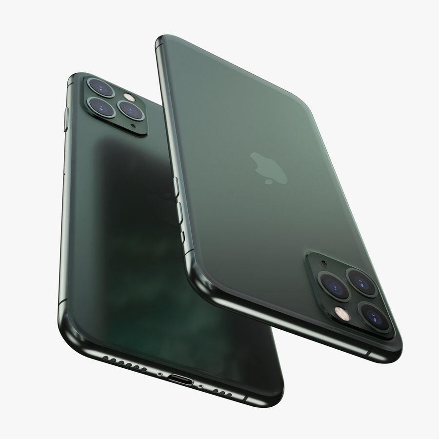 Iphone 11 pro e Iphone 11 Pro Max royalty-free 3d model - Preview no. 6