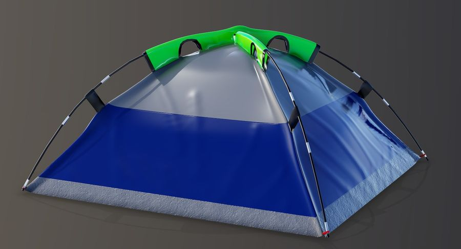 Tente de camp 4 personnes royalty-free 3d model - Preview no. 7