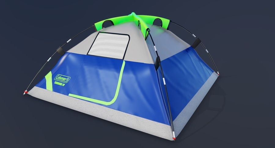 Tente de camp 4 personnes royalty-free 3d model - Preview no. 3
