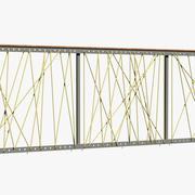 Rope railing 3d model