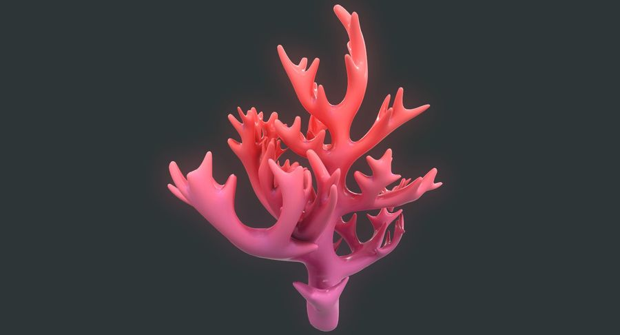 Coral royalty-free modelo 3d - Preview no. 6