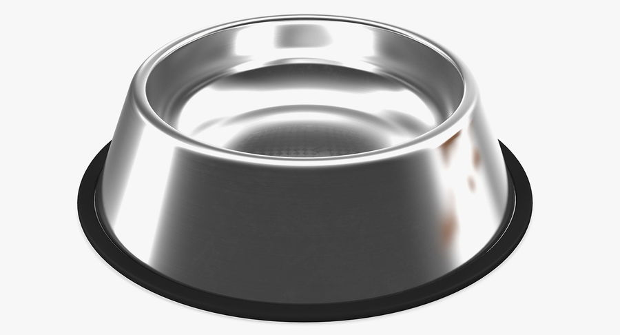 Dry Dog Food Stainless Steel Bowl royalty-free 3d model - Preview no. 13
