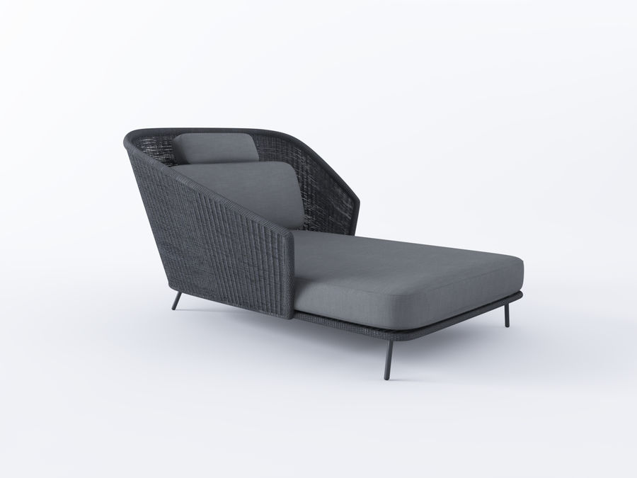 Mega Daybed royalty-free 3d model - Preview no. 1