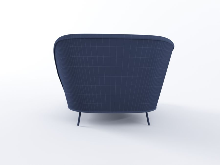 Mega Daybed royalty-free 3d model - Preview no. 6
