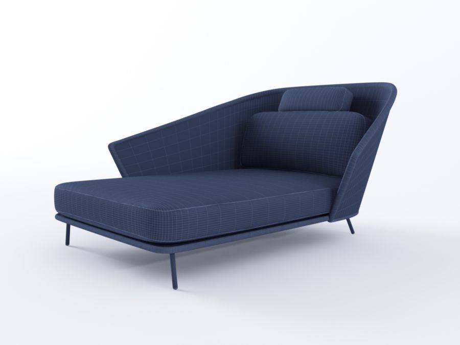 Mega Daybed royalty-free 3d model - Preview no. 5