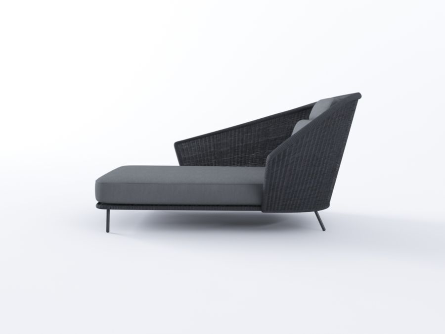Mega Daybed royalty-free 3d model - Preview no. 3