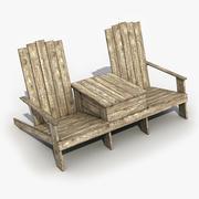 オールド長椅子 3d model