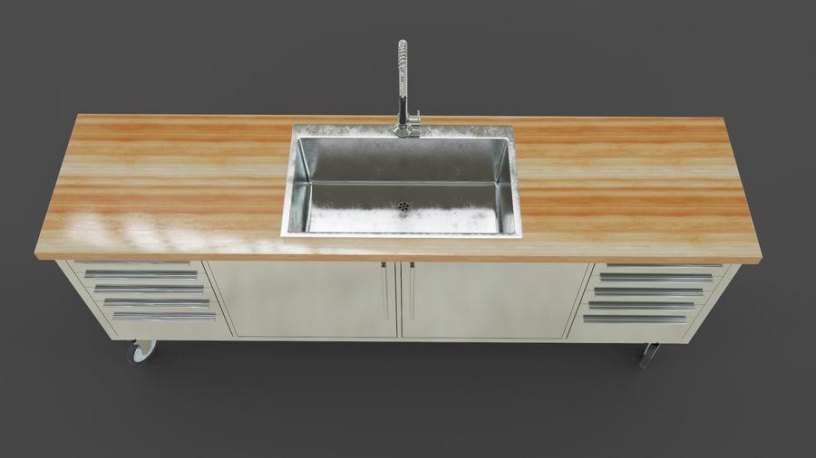 Industrial Kitchen Sink 3D Model $29 - .unknown .obj .fbx ...