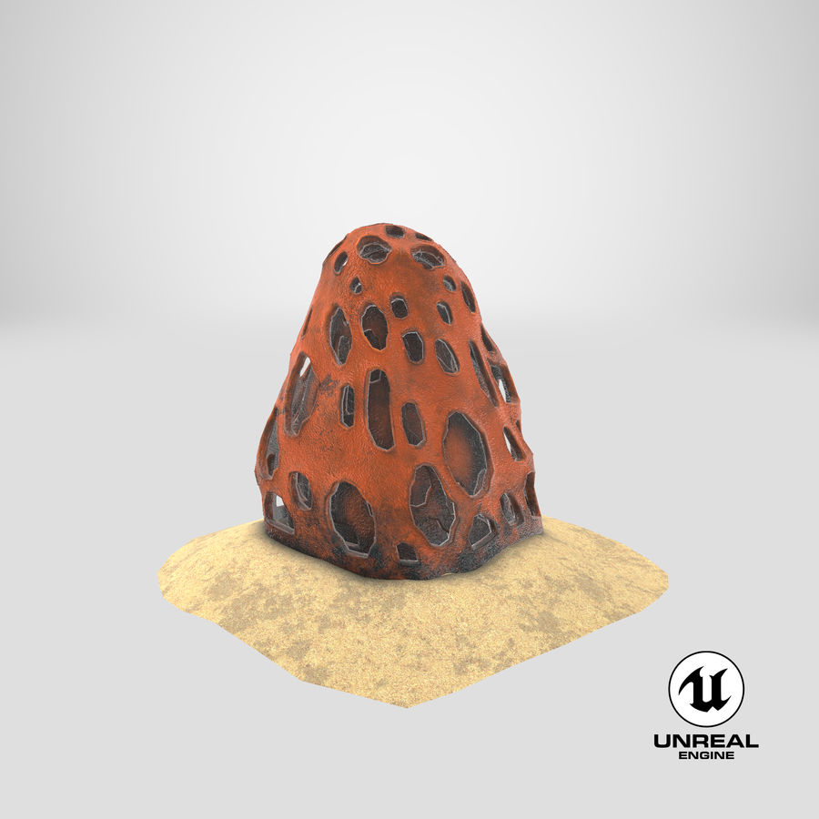 Coral V1 royalty-free 3d model - Preview no. 21