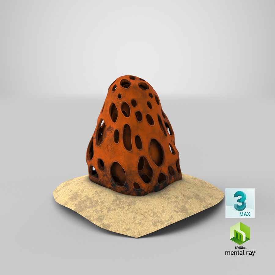 Coral V1 royalty-free 3d model - Preview no. 22