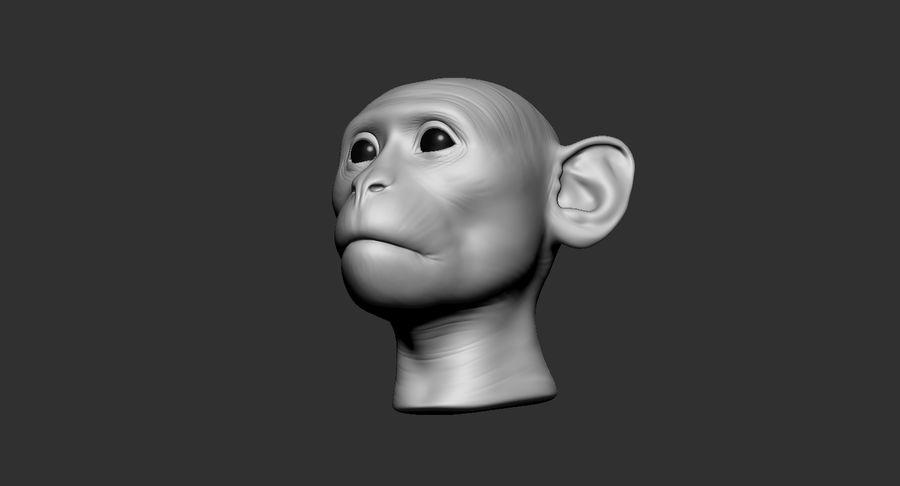 Cabeça de macaco 2019 royalty-free 3d model - Preview no. 17