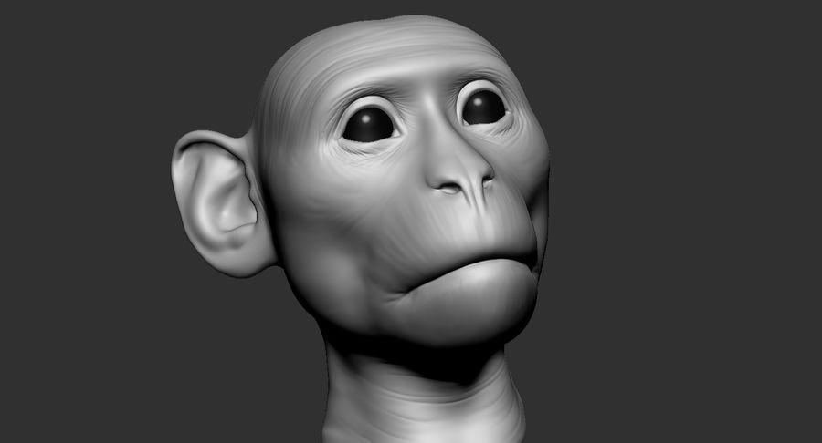 Cabeça de macaco 2019 royalty-free 3d model - Preview no. 9