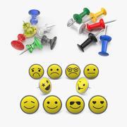 Thumbtacks Collection 3d model