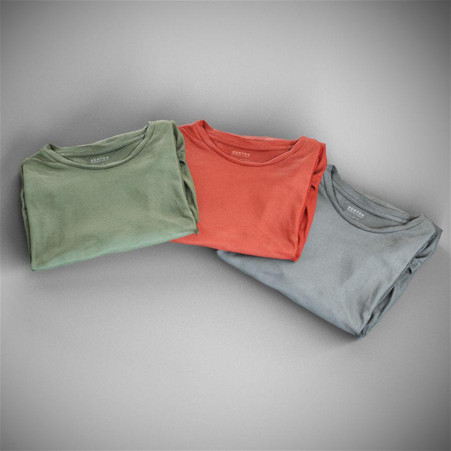 T-shirt złożony royalty-free 3d model - Preview no. 2
