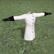 fartuch i rękawiczki naukowca 3d model