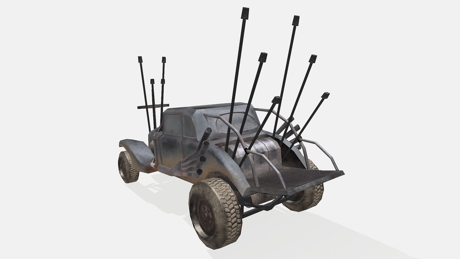 Mad Max Nux Car - Rat Rod - Hot Rod Buggy Low-poly royalty-free 3d model - Preview no. 10