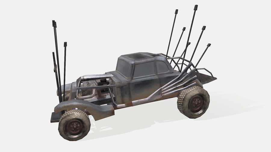 Mad Max Nux Car - Rat Rod - Hot Rod Buggy Low-poly royalty-free 3d model - Preview no. 12