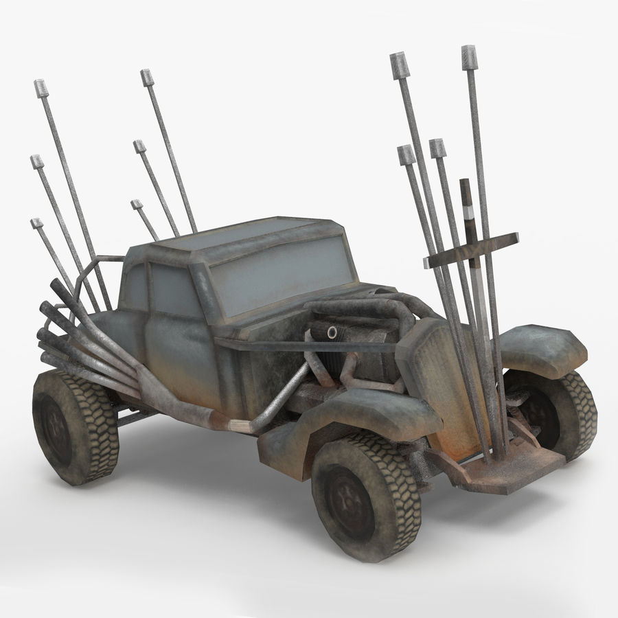 Mad Max Nux Car - Rat Rod - Hot Rod Buggy Low-poly royalty-free 3d model - Preview no. 1