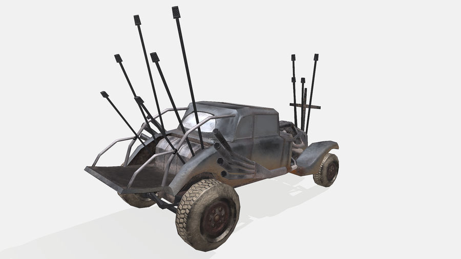 Mad Max Nux Car - Rat Rod - Hot Rod Buggy Low-poly royalty-free 3d model - Preview no. 9