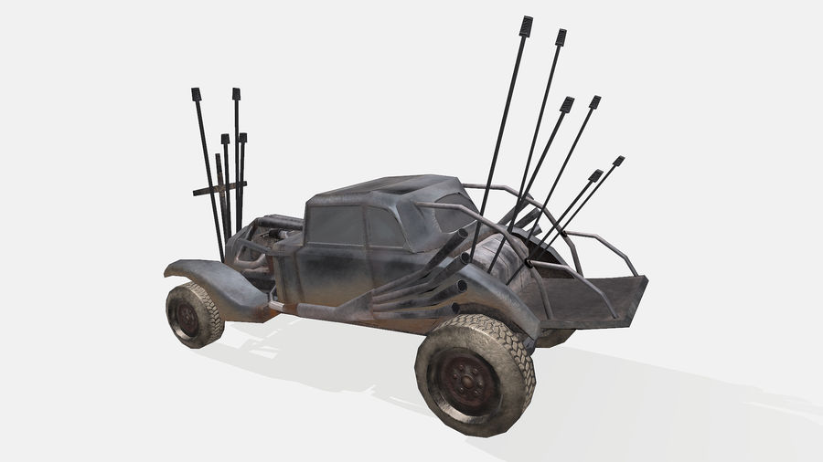 Mad Max Nux Car - Rat Rod - Hot Rod Buggy Low-poly royalty-free 3d model - Preview no. 11