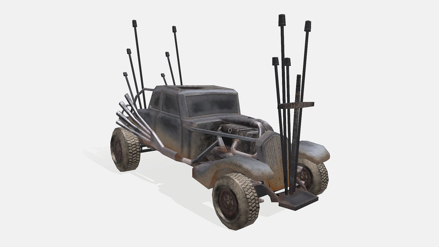 Mad Max Nux Car - Rat Rod - Hot Rod Buggy Low-poly royalty-free 3d model - Preview no. 5