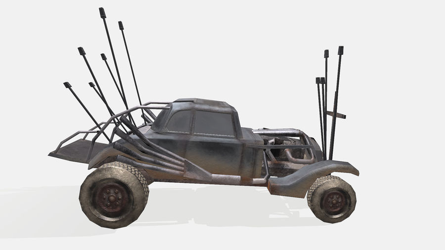 Mad Max Nux Car - Rat Rod - Hot Rod Buggy Low-poly royalty-free 3d model - Preview no. 8