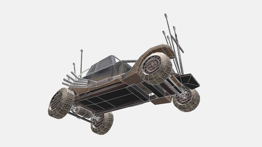 Mad Max Nux Car - Rat Rod - Hot Rod Buggy Low-poly royalty-free 3d model - Preview no. 15