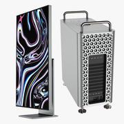 Zestaw Pro Display XDR i Mac Pro 2019 3d model