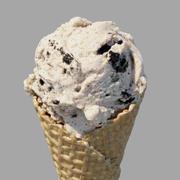 アイスクリームワッフルコーンクッキーとクリーム 3d model