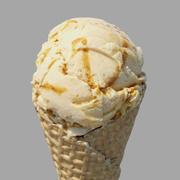 Eiscreme-Waffel-Kegel-englischer Toffee 3d model