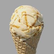 아이스크림 와플 콘 잉글리쉬 토피 3d model