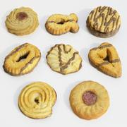 Biscotti impostati 3d model