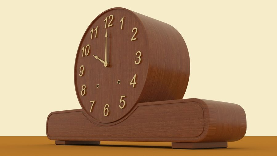 Mantel Clock royalty-free 3d model - Preview no. 8