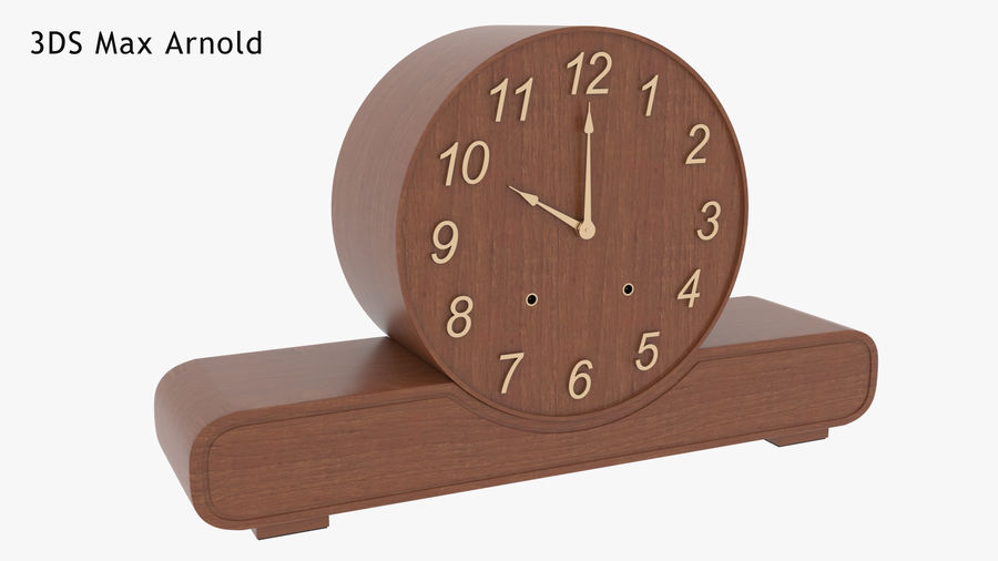Mantel Clock royalty-free 3d model - Preview no. 13